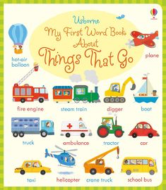 """Find out more about """"My first word book about things that go"""", write a review or buy online."""