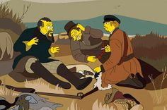 "A slightly more manic bro picnic in Vasily Perov's ""Hunters At Rest"" 