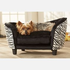 Hollywood - Ultra Plush #Zebra #Snuggle #Bed for a pamper pooch......My Charlie needs one of these!!!!