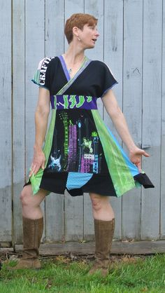 RocknRun Upcycled Tshirt Dress by kendragrace on Etsy, $165.00