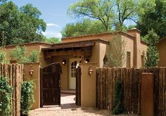 "hacienda homes pictures | In Santa Fe, the name ""Sharon Woods,"" (owner of Woods Design ..."