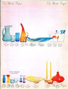 Blenko Glass, Preserves, Art Deco, Projects, Log Projects, Preserve, Blue Prints, Preserving Food, Pickling
