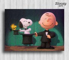 Snoopy and Charlie Brown art print nursery watercolor kids gifts