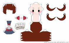 Pokemon Papercraft Templates   White/Touko Chibi Papercraft by Driickaa on deviantART