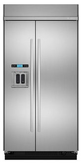 Jenn-Air Stainless Steel 25.3 cu.ft. Built-In Side-By-Side Refrigerator - Trail Appliances