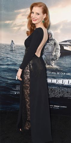 Look of the Day - October 27, 2014 - Jessica Chastain in Givenchy Couture from #InStyle