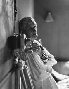 Dorothea Lange at home in the Bay Area, 1964