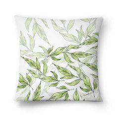 Almofada White Natural Leaves de @jurumple | Colab55
