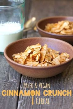 """Paleo Cinnamon Crunch """"Cereal."""" This easy alternative is vegan and requires only 3 ingredients!   Detoxinista"""