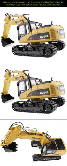 Huina Alloy 15 Channel 2.4G Full-Function Remote Control RC Excavator Full Function Crawler Tractor Construction Vehicle Toy #racing #technology #plans #fpv #gadgets #huina #kit #products #tech #drone #rc #camera #parts #shopping