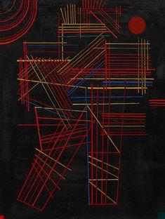 "Wassily Kandinsky - ""Colored Sticks"", 1928"