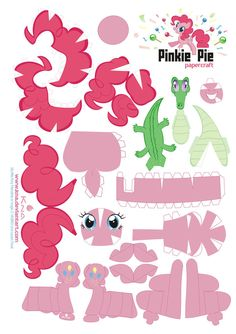 Printable - My Little Pony Papercraft Pinkie Pie