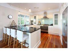 Floorboards in a kitchen design from an Australian home - Kitchen Photo 8878293