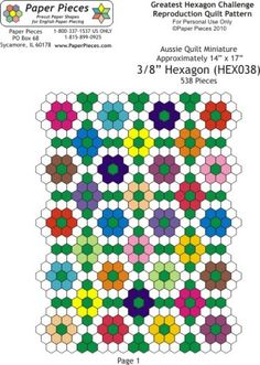 Use both hexagons and diamonds to paper piece this sweet design ... : hexagon quilt pattern free - Adamdwight.com