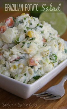 Check out this creamy Brazilian Potato Salad @ sugar-n-spicegals.com