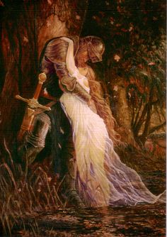 """""""La Belle Dame Sans Merci"""" Marc Fishman (What was with these guys and their vampire ladies? John William Waterhouse, Art Amour, Art Ancien, Knight In Shining Armor, Pre Raphaelite, Classical Art, Medieval Art, Beautiful Paintings, Romantic Paintings"""