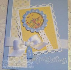 SUO Baby Shaker Card With Swirls and Curves Verses
