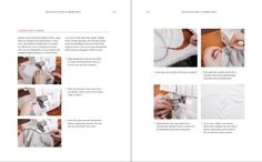 How to serge an inner corner from Colette Patterns new book on knits