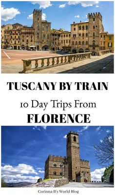 Tuscany By Train ~ 10 Fabulous Day Trips From Florence. You can visit so many wonderful places in Tuscany by train! If you don't feel like renting a car or if you only have one spare day and want to see somewhere new in Tuscany, here are 10 really fabulous options, with a list of things to do in each place as well as the approximate amount of time needed to get there from Florence. I'm in love with #5! #Tuscany #ItalyTravelTips #Florence