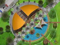 Landscape Architecture Model, Water Architecture, Beautiful Architecture, Architecture Details, Garden Landscape Design, Landscape Plans, Urban Landscape, Resort Plan, Urban Design Diagram
