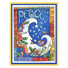 Laurel Burch Peace Moon by Debi Hammons Laurel Burch, Images Of Peace, Create Image, Christmas Cards, Merry Christmas, Cardmaking, Paper Crafts, Stamps, Artist
