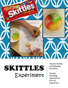 This is a fun, engaging experiment to introduce students to the the scientific method, or to practice reading and following instructional texts. All you need is Skittles, a small bowl and water! There are two different experiments--do one or both depending on your students' needs and abilities!