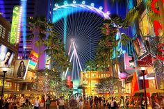 The Linq Las Vegas! Finally building something smart. Restaurants/Retail and a weird ferris wheel for views of Vegas!