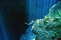 Impresionantes fotografías de inmersiones libres en cenotes de Yucatán