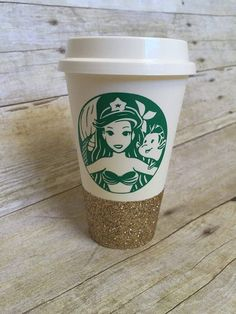 Calling out all my little mermaid fans & the undercover meramids ;P This listing comes with one glitter dipped to go cup, a vinyl personalization on