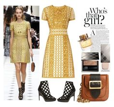 """""""Get the look Burberry Prorsum London Fashion week"""" by thestyleartisan ❤ liked on Polyvore featuring Burberry, GetTheLook, fashionWeek and londonfashionweek"""