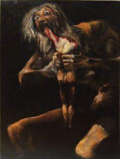 Goya - Saturno. Al museo del Prado, c'è una stanza in cui sono presenti tutti i quadri di Goya di questo periodo. È incredibile la sensazione che ti trasmettono.