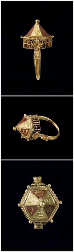 Colmar Treasury: Jewish wedding ring - 16th Century. Gold, chased. | Paris, musée de Cluny - musée national du Moyen Âge.