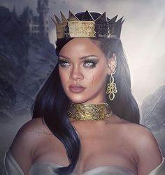 Rihanna crowned in; Mode Rihanna, Rihanna Riri, Rihanna Style, Black Girl Art, Black Girl Magic, Kylie Jenner, Bad Gal, Glamour, Black Is Beautiful