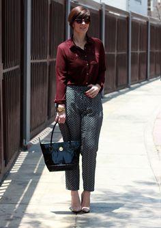 Divina Ejecutiva: Mis Looks - Probando pantalones nuevos #divinaejecutiva #ootd #workinggirl #officeattire #workingstyle #workinglook #aboutalook #pants #burgundyblouse #aldosshoes #nudestilettos
