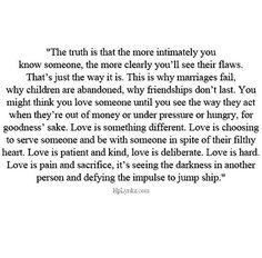 Conditional vs. Unconditional love
