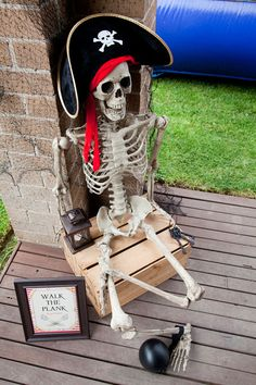 Pirate Themed Party Sign / Walk the Plank by JoStudioPartyPaperie / Printable Party Collection for a Pirate Party by JoStudioPartyPaperie / Kids Party / Pirate Birthday Party / Kids Parties / Stationery / Jo Studio / Skull / Red and Black