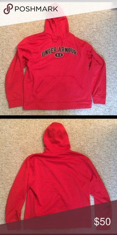Under Armour Hoodie Red and black Under Armour sweatshirt Under Armour Shirts Sweatshirts & Hoodies