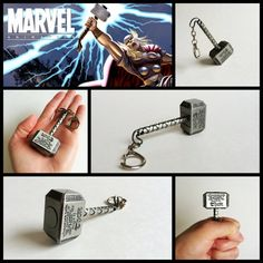 Marvel The Avengers Keychains Thor Hammer / Iron Man / от Aug15th