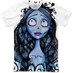 Corpse Bride: Watercolor Emily Men's T-Shirts by Aleksandra Kurczewska | Nuvango