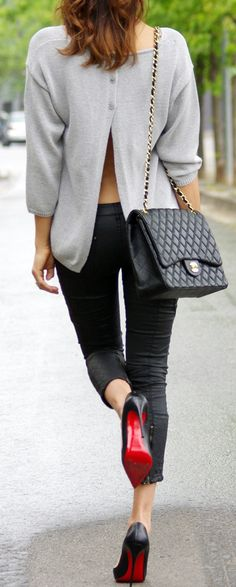 Clothes outfit for woman * teens * dates * stylish * casual * fall * spring * winter * classic * casual * fun * cute* sparkle * summer *Candice Wicks Grey Fashion, Love Fashion, Winter Fashion, Fashion Trends, Street Fashion, Street Chic, Fashion Wear, Fashion Bloggers, Skirt Fashion