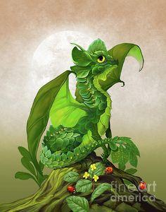 Spinach Dragon Digital Art by Stanley Morrison