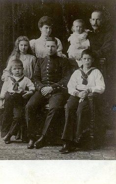 King Constantin and Queen Sofia of Greece with family