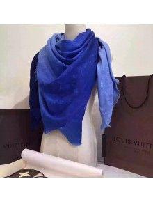 Louis Vuitton Monogram Sunrise Shawl M74014 Bleu Jean