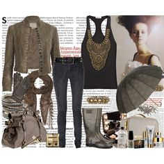 It's a rainy day, created by danca-da-solidao on Polyvore