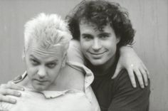 Kiefer & Jason behind the scenes on the set of The Lost Boys