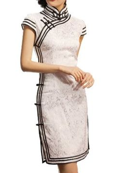 Interact China Chinese Cheongsam Qipao Gown Vintage Cocktail Dress Asian Fashion Chic for Women Style Oriental, Oriental Dress, Oriental Fashion, Ethnic Fashion, Asian Fashion, Moda China, Cheongsam Modern, Cheongsam Dress, Dress Making Patterns