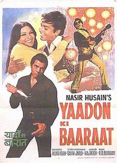 "Yaadon Ki Baraat (1973) | http://www.getgrandmovies.top/movies/3064-yaadon-ki-baraat | Shankar (Dharmendra), Vijay (Vijay Arora), and Ratan (Tariq) are three brothers. On their father's birthday, their mother taught them a song titled "" yaadon ki baaraat"" which they held dearly to their hearts. as fate may have it, one day, the boys' father witnessed a robbery by shakaal (ajit), and his henchmen. protect identity, shakal decided kill before he could go police. so night, men storm into…"