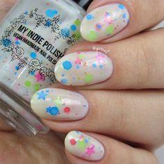 Milky way - Nail Polish - 7 ml mini bottle - Handmade - polish - lacquer