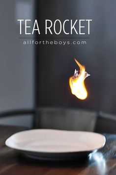 tea rocket - fun home science experiment for kids, but adult supervision is required!