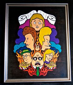 Beavis and Butthead inspired Melted Crayon by CrypticCrayon, $40.00